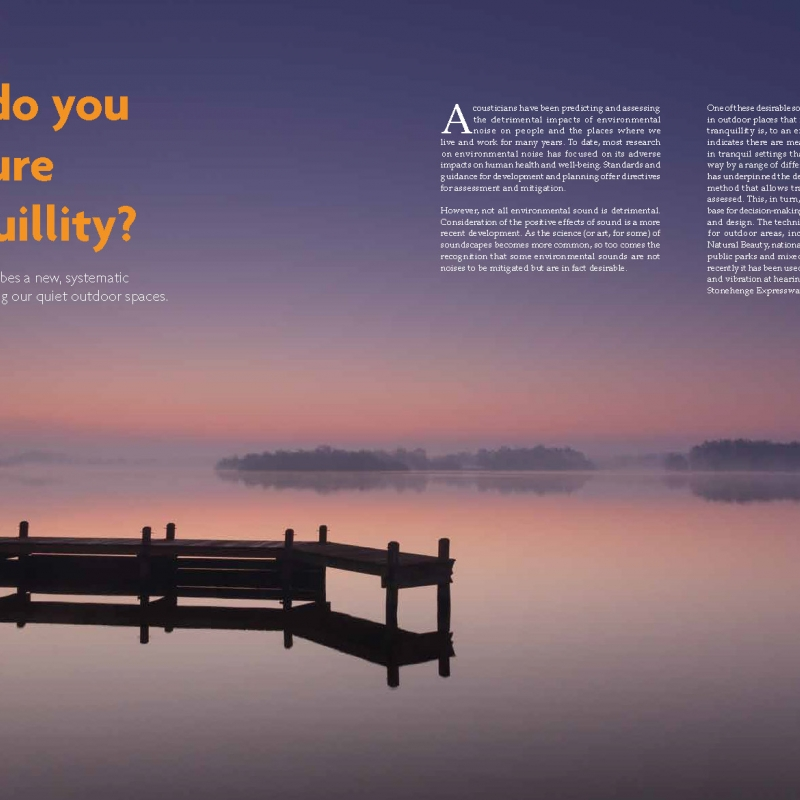 Tranquillity features in latest Environmental Scientist magazine